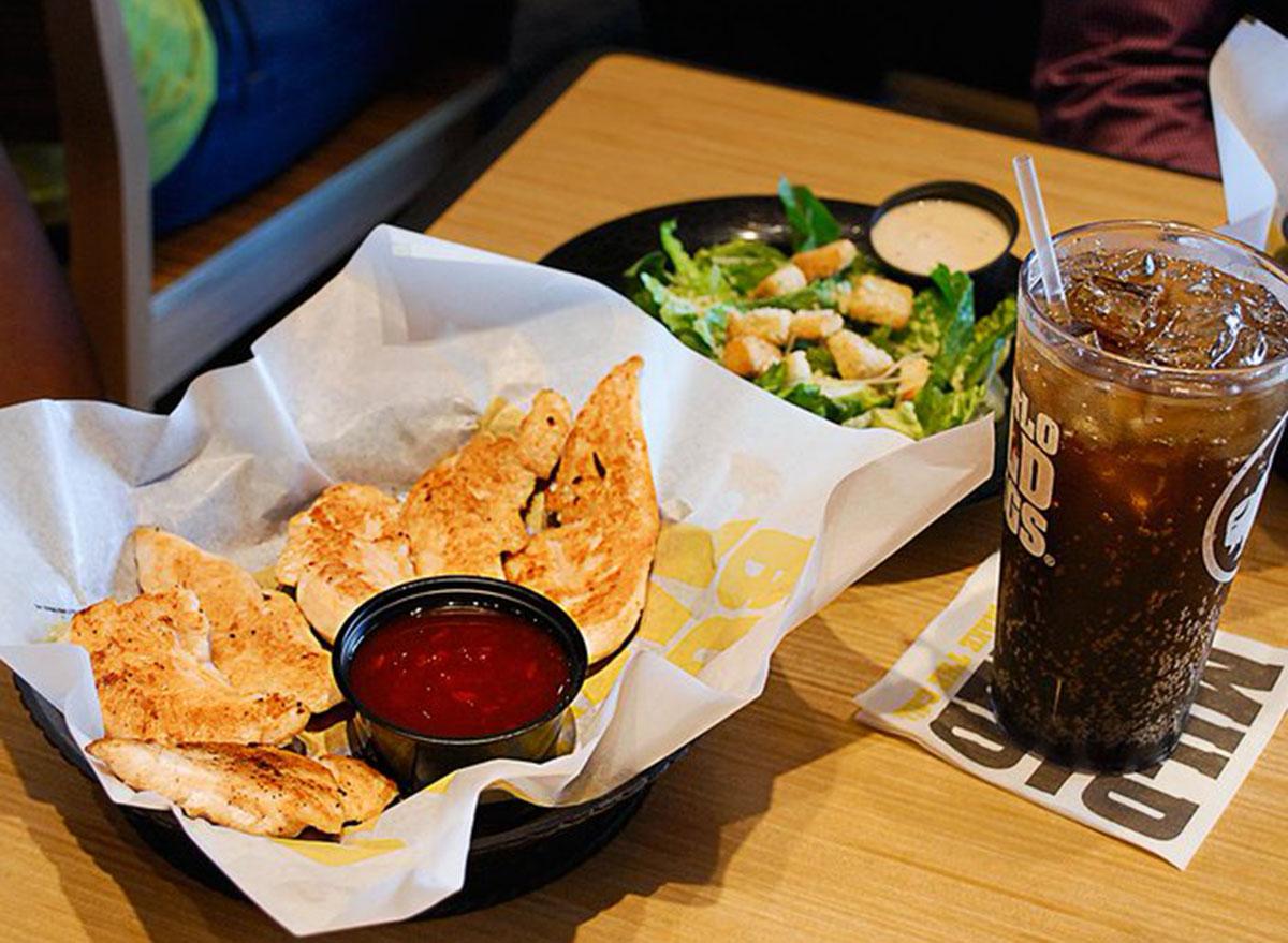 healthiest restaurant dish buffalo wild wings naked tenders
