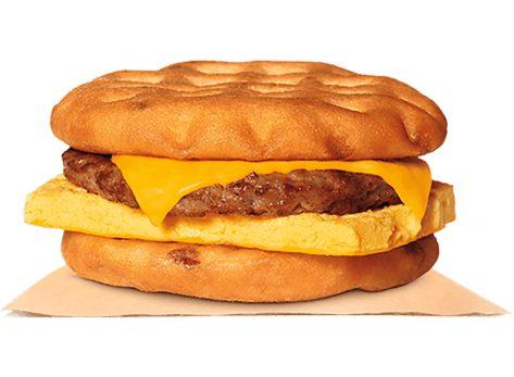 burger king maple waffle sandwich