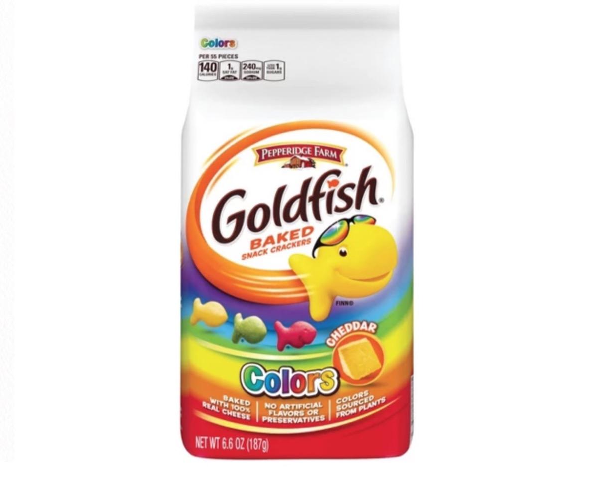 goldfish colors, peanut free preschool snacks