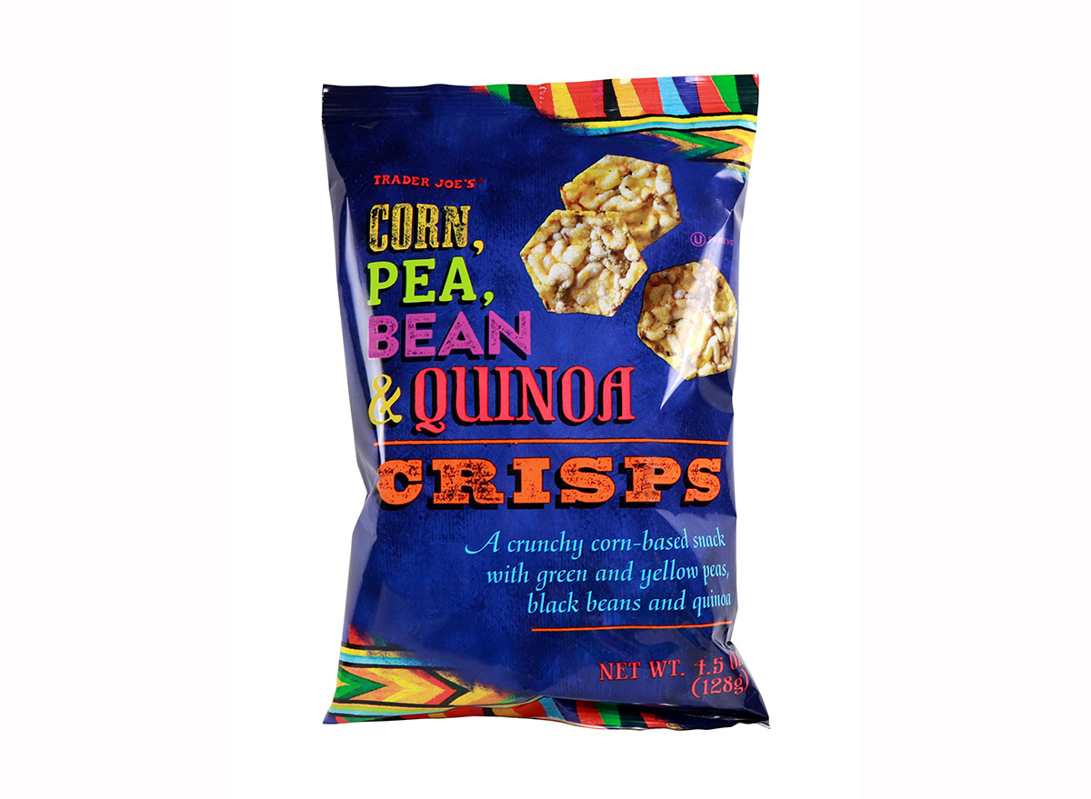 corn pea bean and quinoa crisps from trader joe's