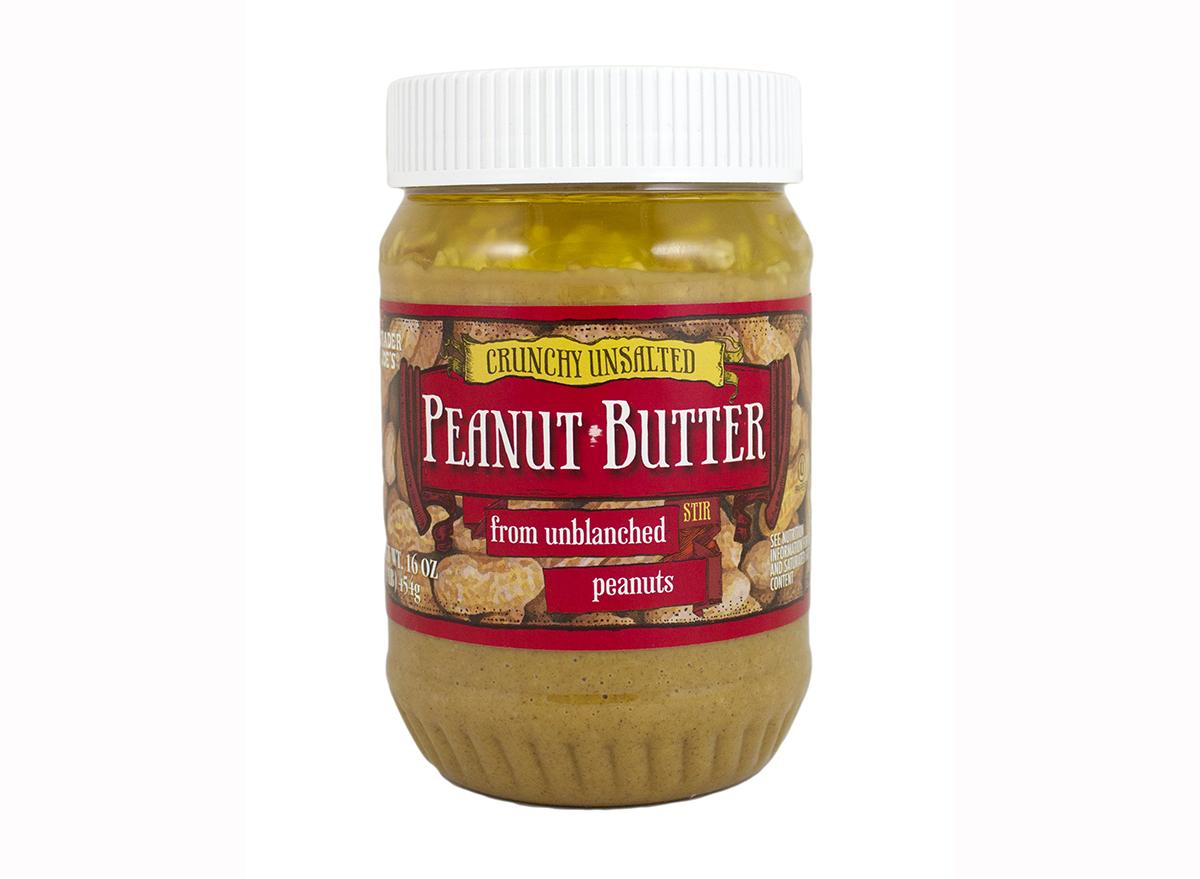 crunchy unsalted peanut butter from trader joe's