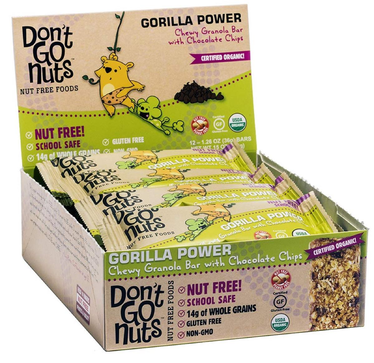 don't go nuts snack bars, peanut free preschool snacks