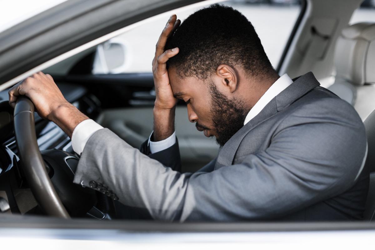 driver having back pain