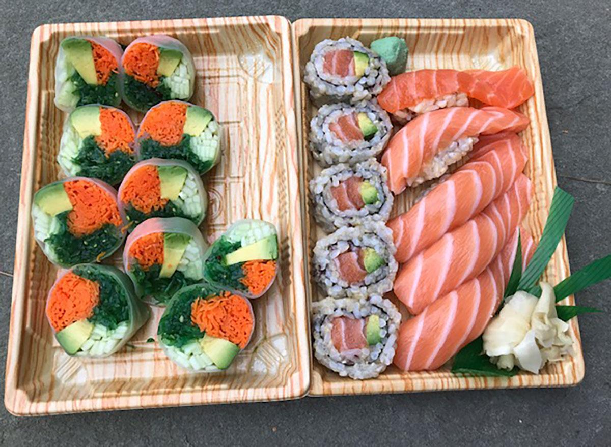 dylan lauren sushi lunch