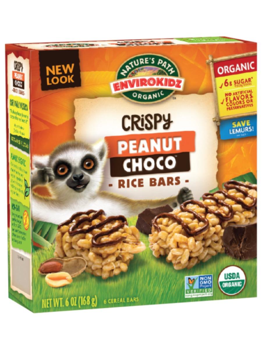 envirokidz crispy peanut choco rice bars, gluten-free snacks