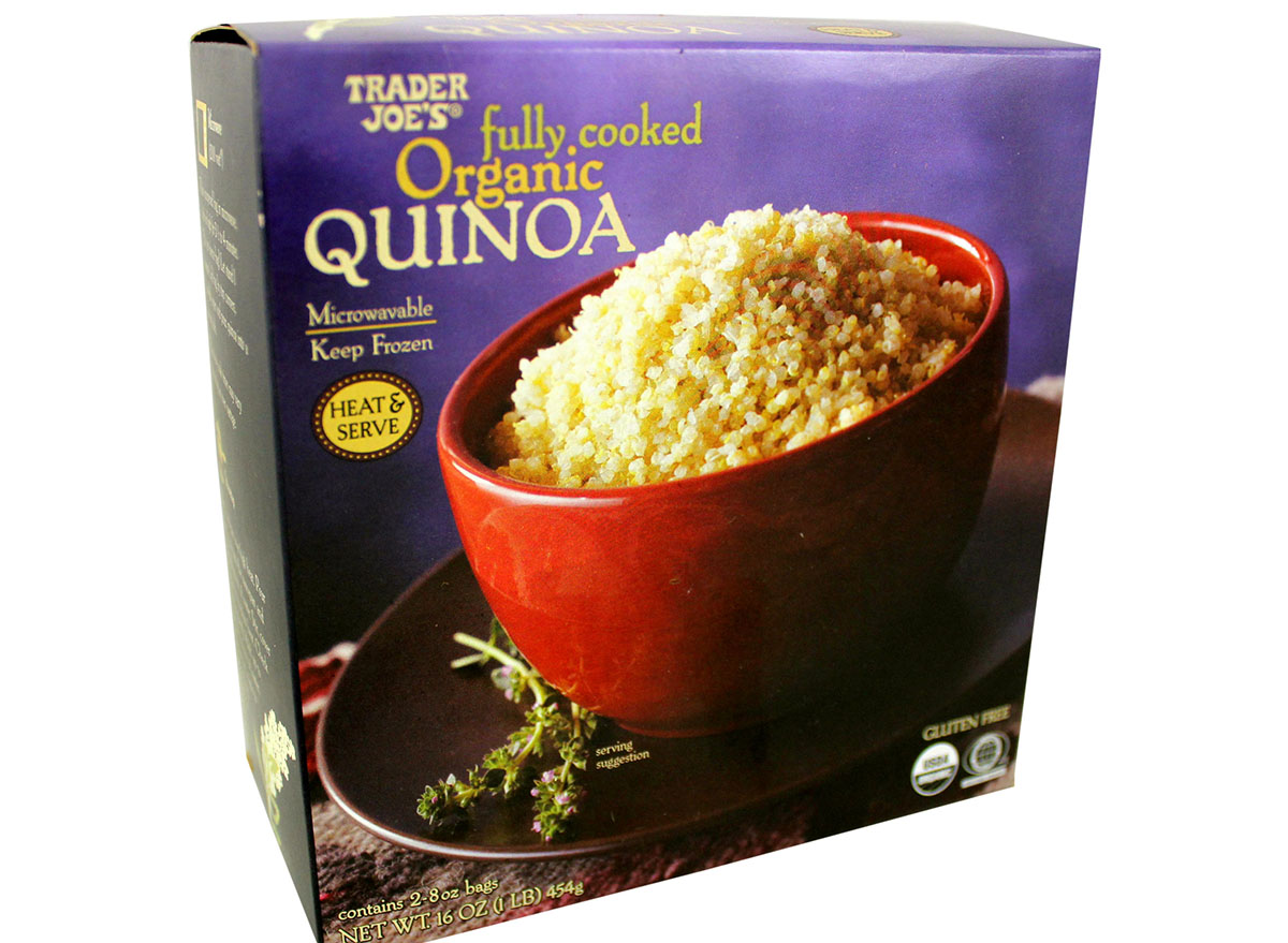 fully cooked organic quinoa frozen from trader joe's