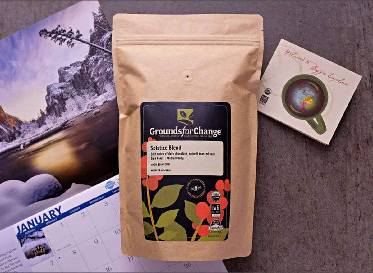 grounds for change solstice blend coffee