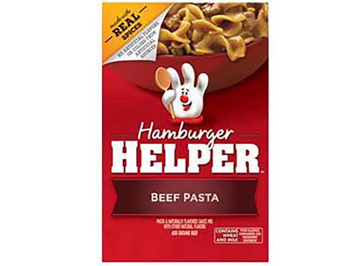 hamburger helper beef pasta box