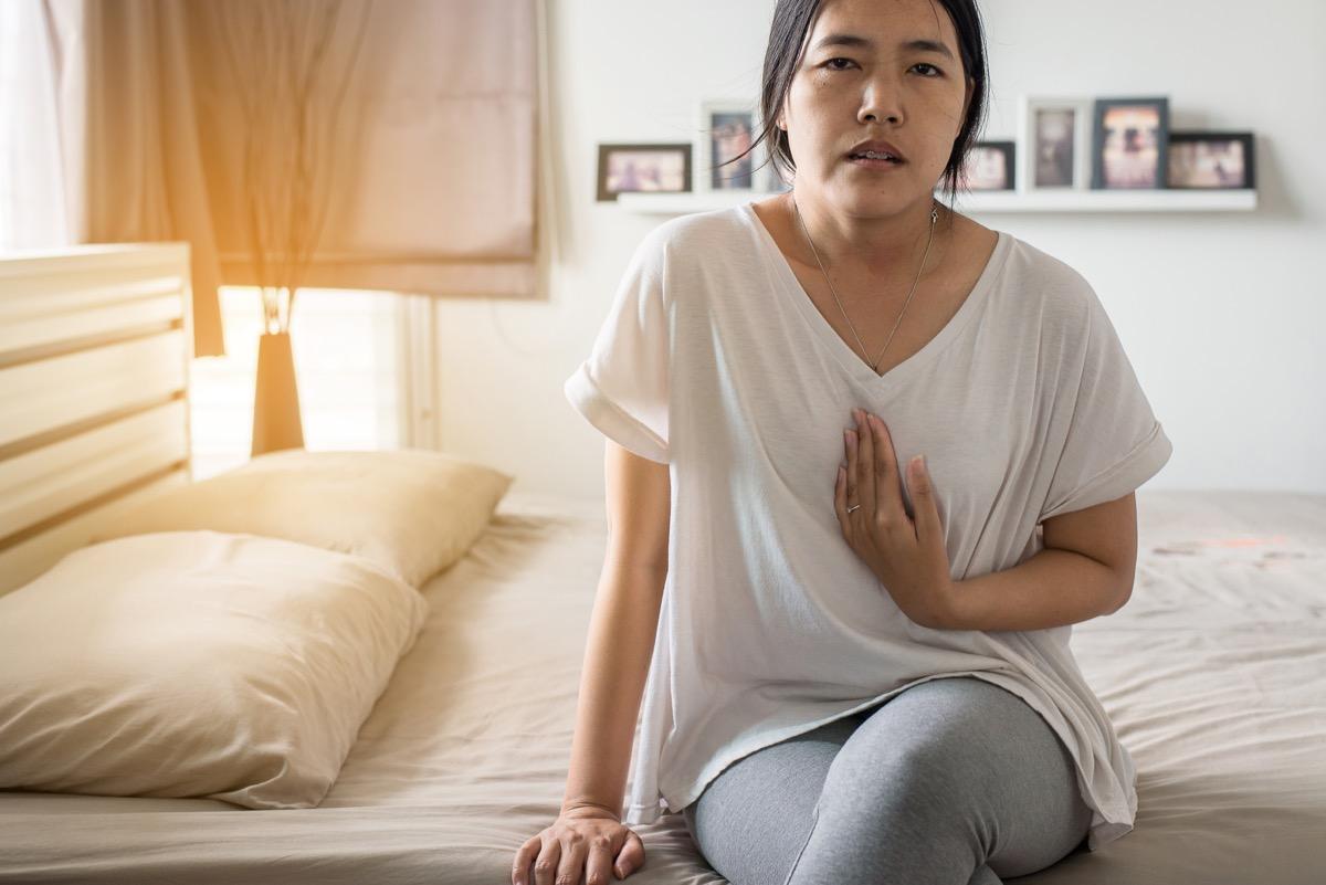 Gastroesophageal reflux disease,Woman having or symptomatic reflux acids