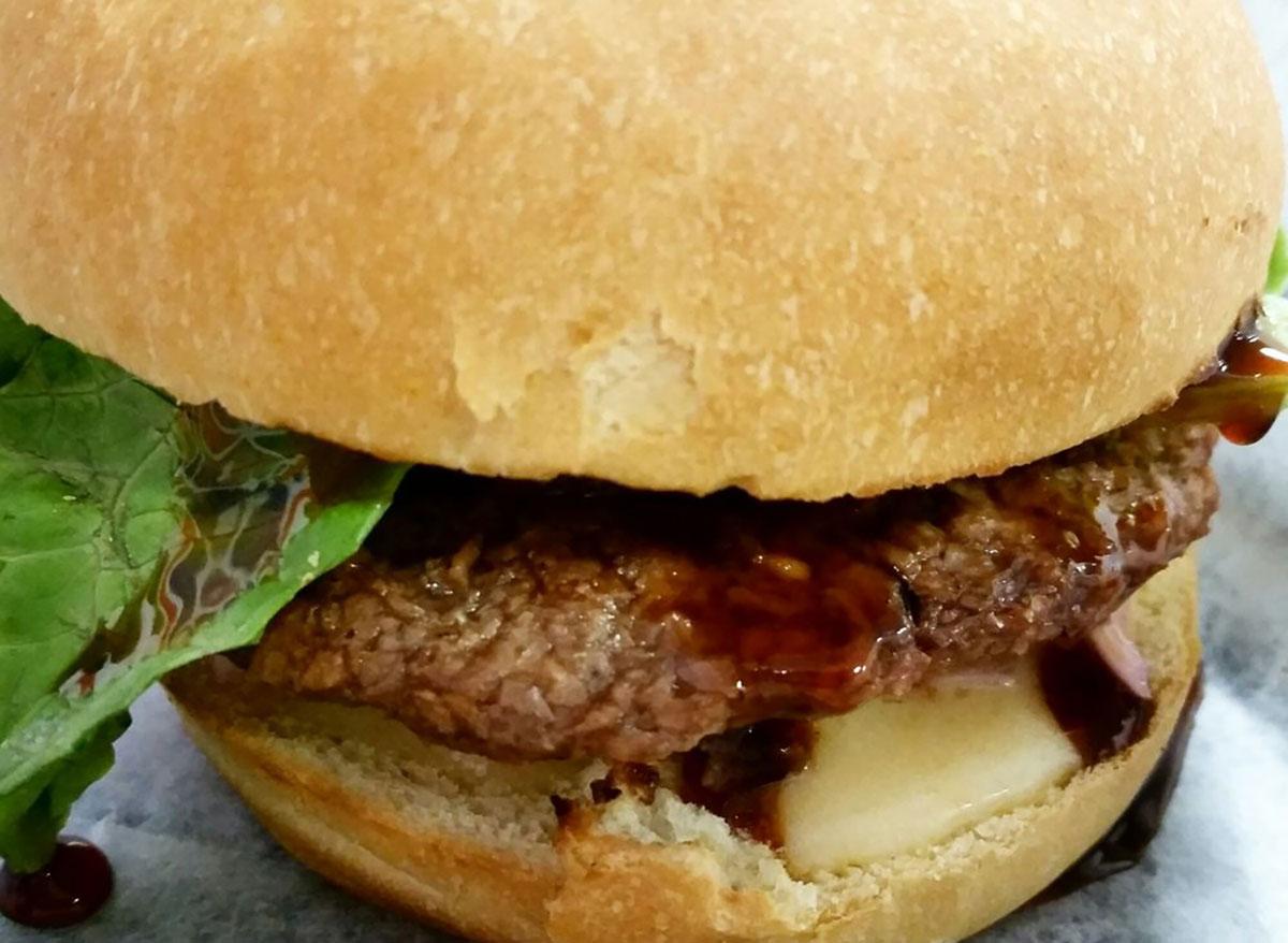 island burger at meta burger in denver colorado