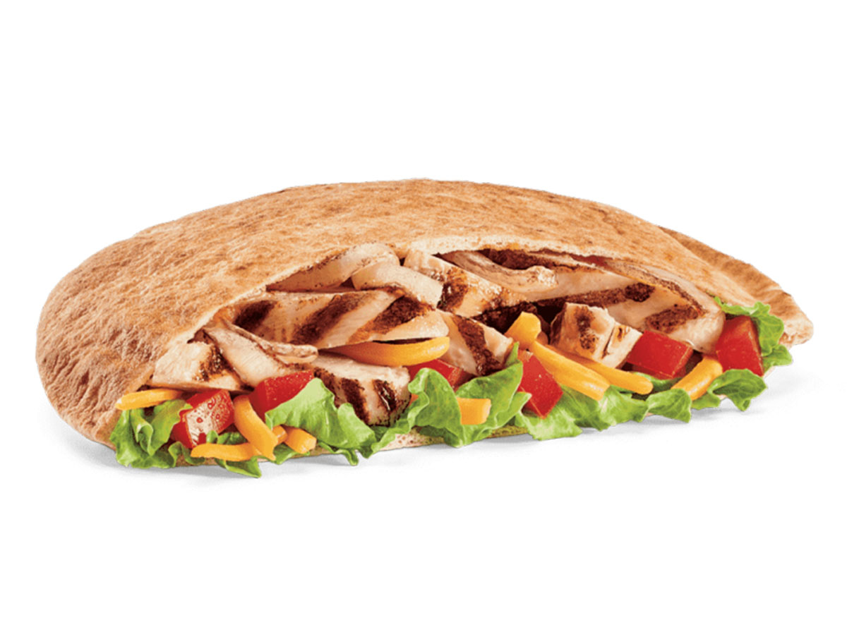 healthiest restaurant dish jack in the box chicken fajita pita