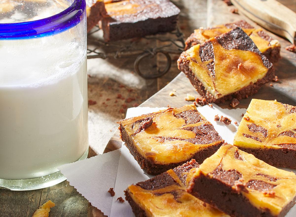 keto latte swirl brownies