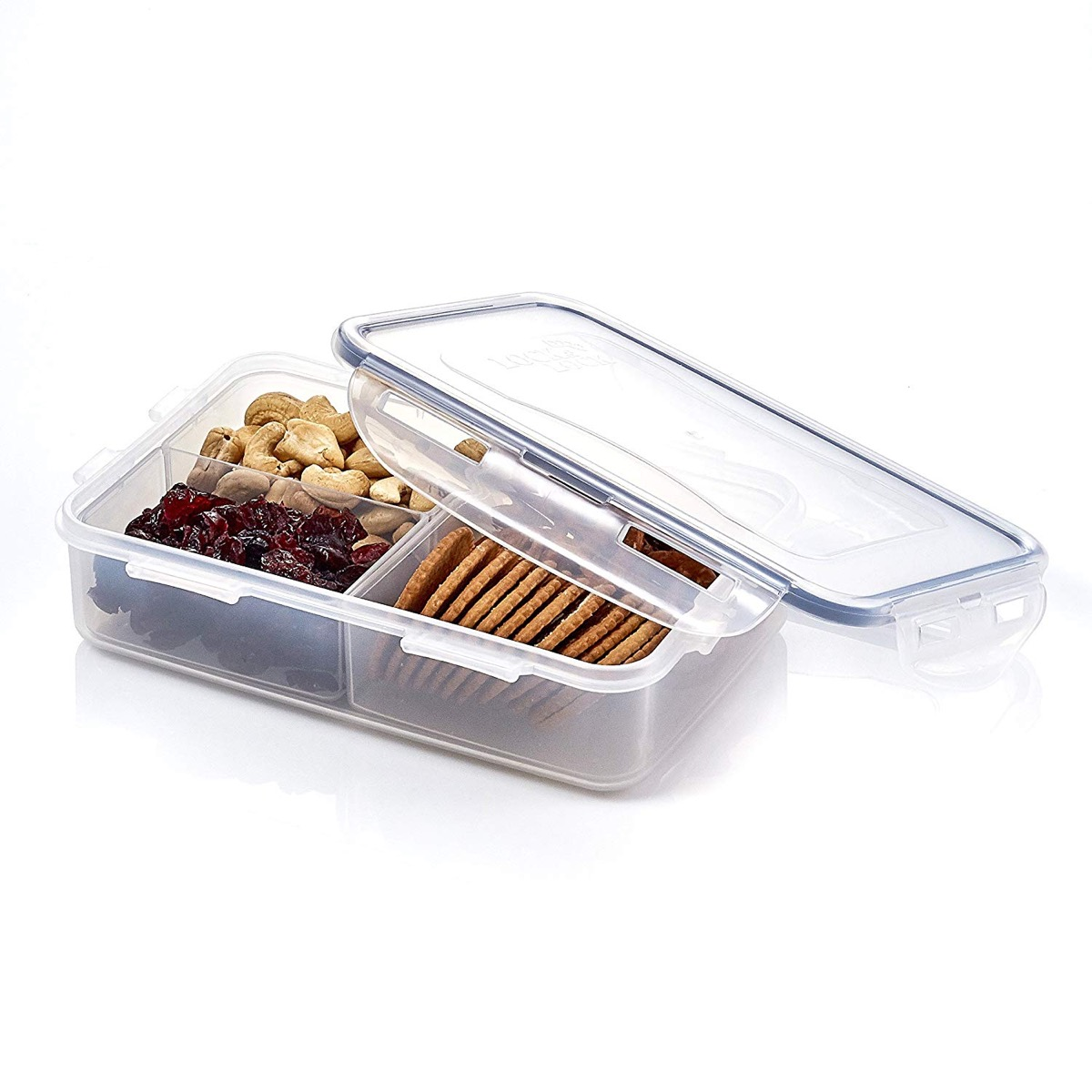 clear box with nuts and fruit in it, cheap meal prep containers