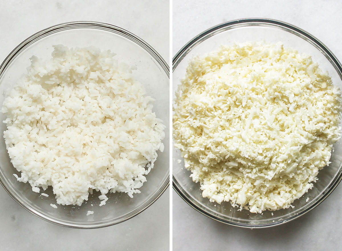 Swapping out rice with cauliflower rice
