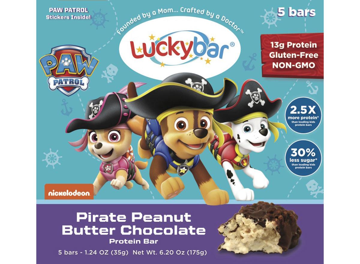 luckybar pirate peanut butter chocolate protein bar
