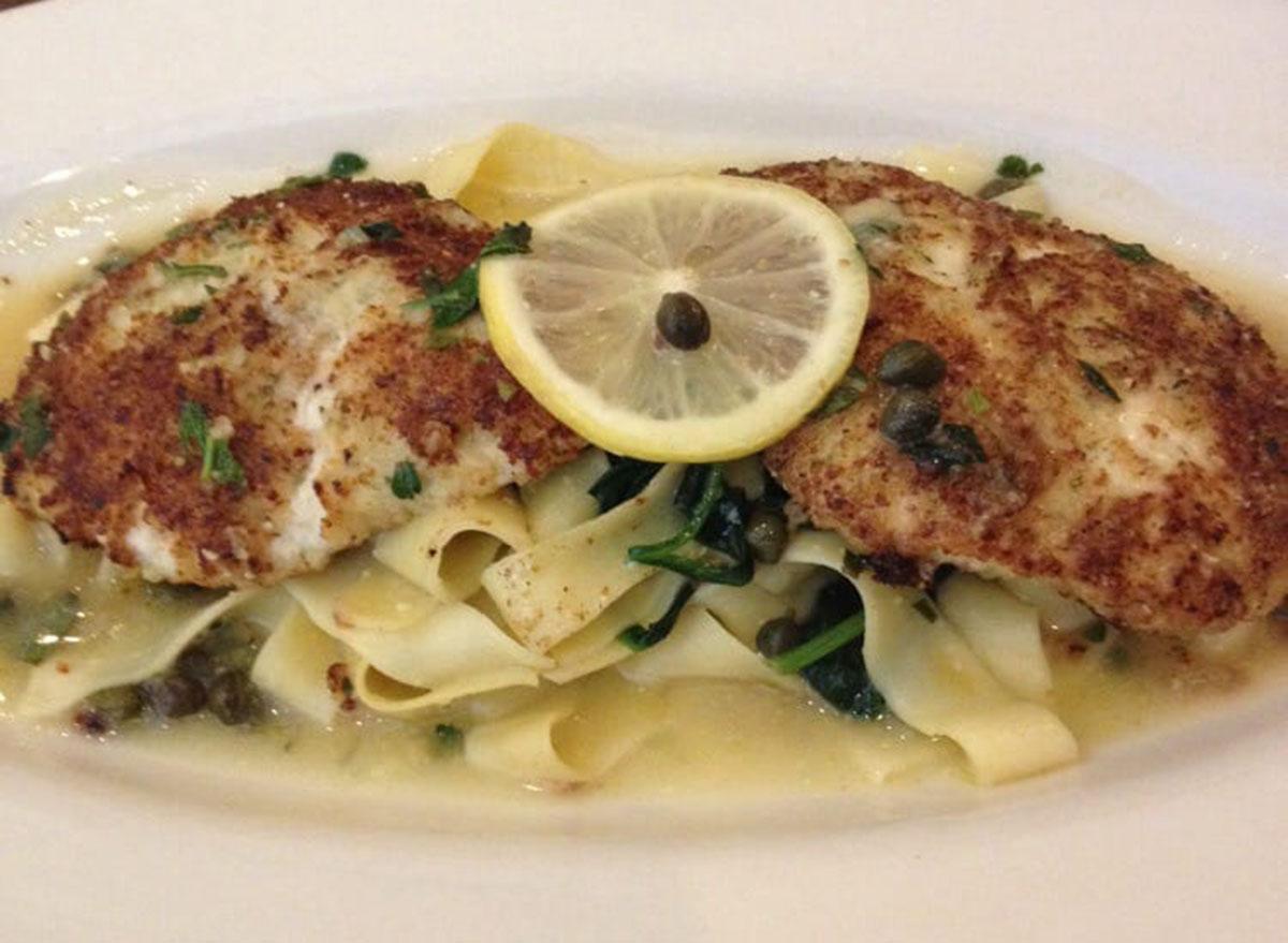 healthiest restaurant dish maggiano lighter take chicken piccata