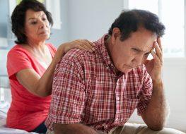 Comforting Senior Husband Suffering With Dementia