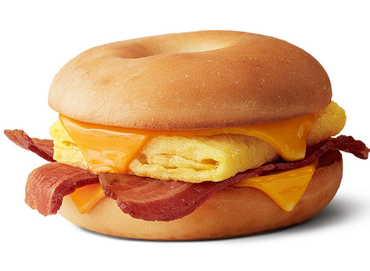mcdonalds bacon egg cheese bagel