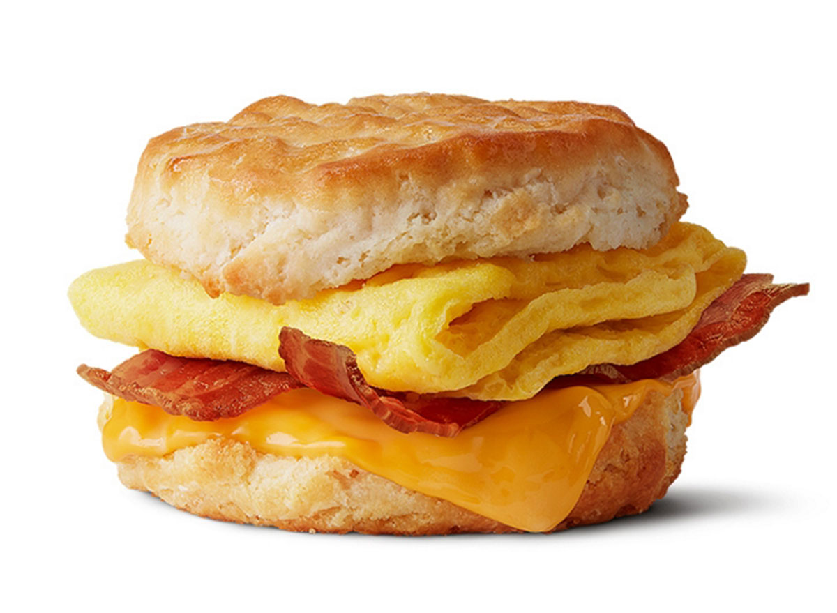 mcdonalds bacon egg cheese biscuit regular size biscuit