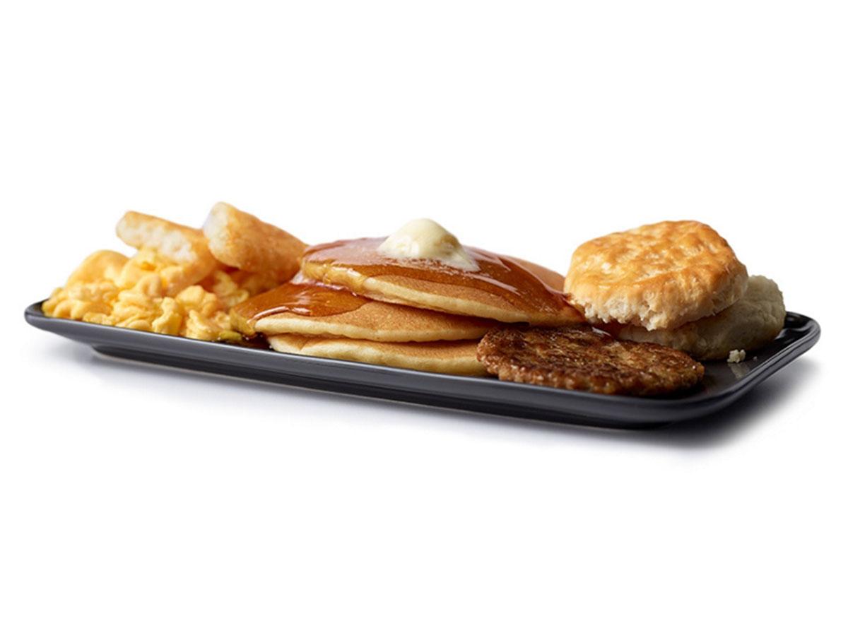 mcdonalds big breakfast hotcakes regular size biscuit
