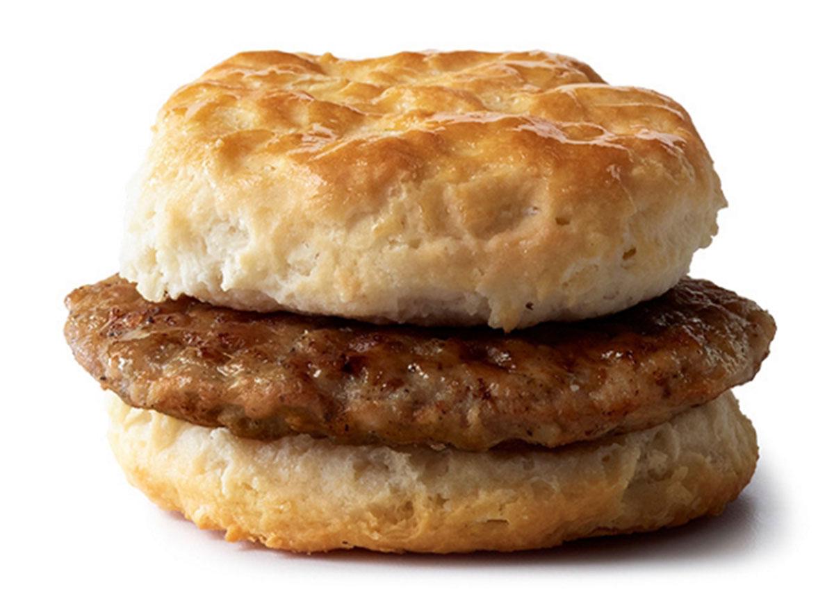 mcdonalds sausage biscuit regular size biscuit