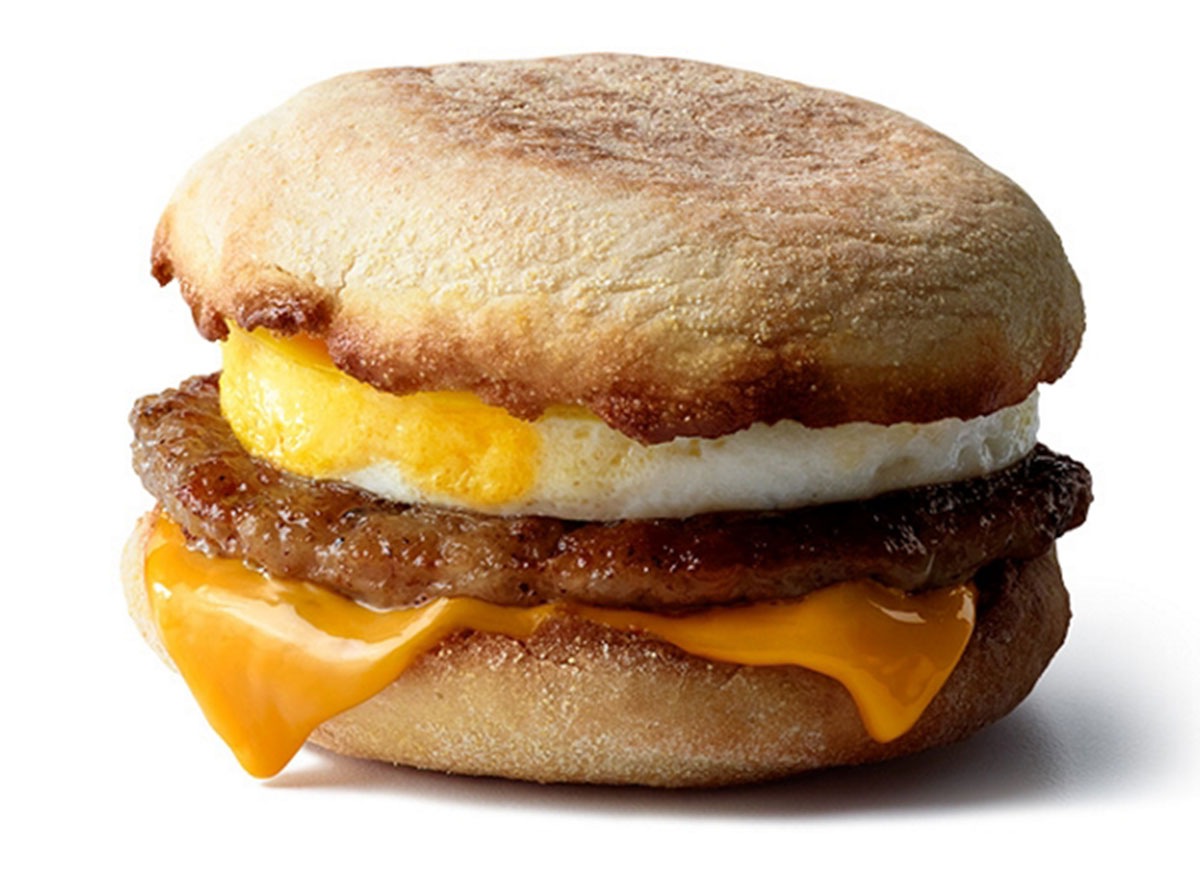 mcdonalds sausage mcmuffin with egg