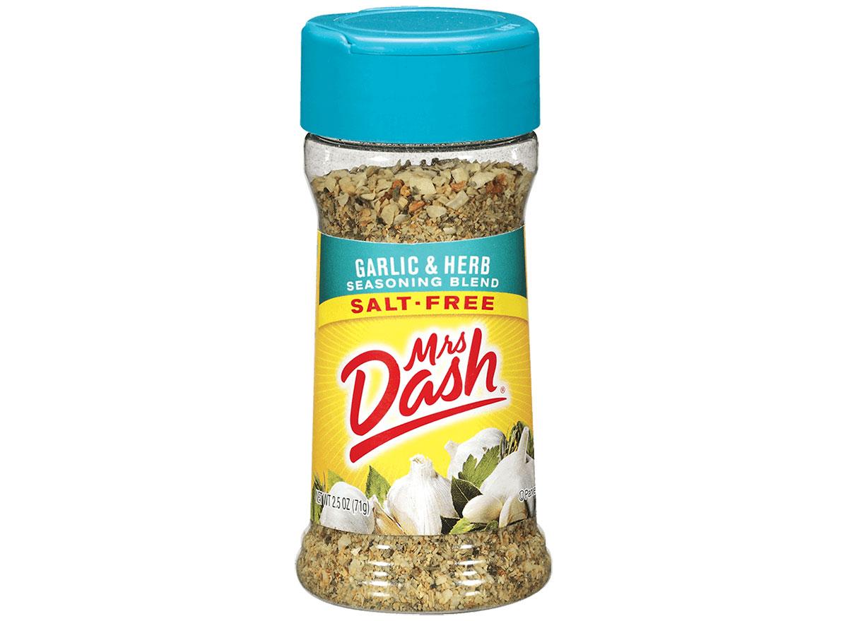 mrs dash garlic herb salt free seasoning
