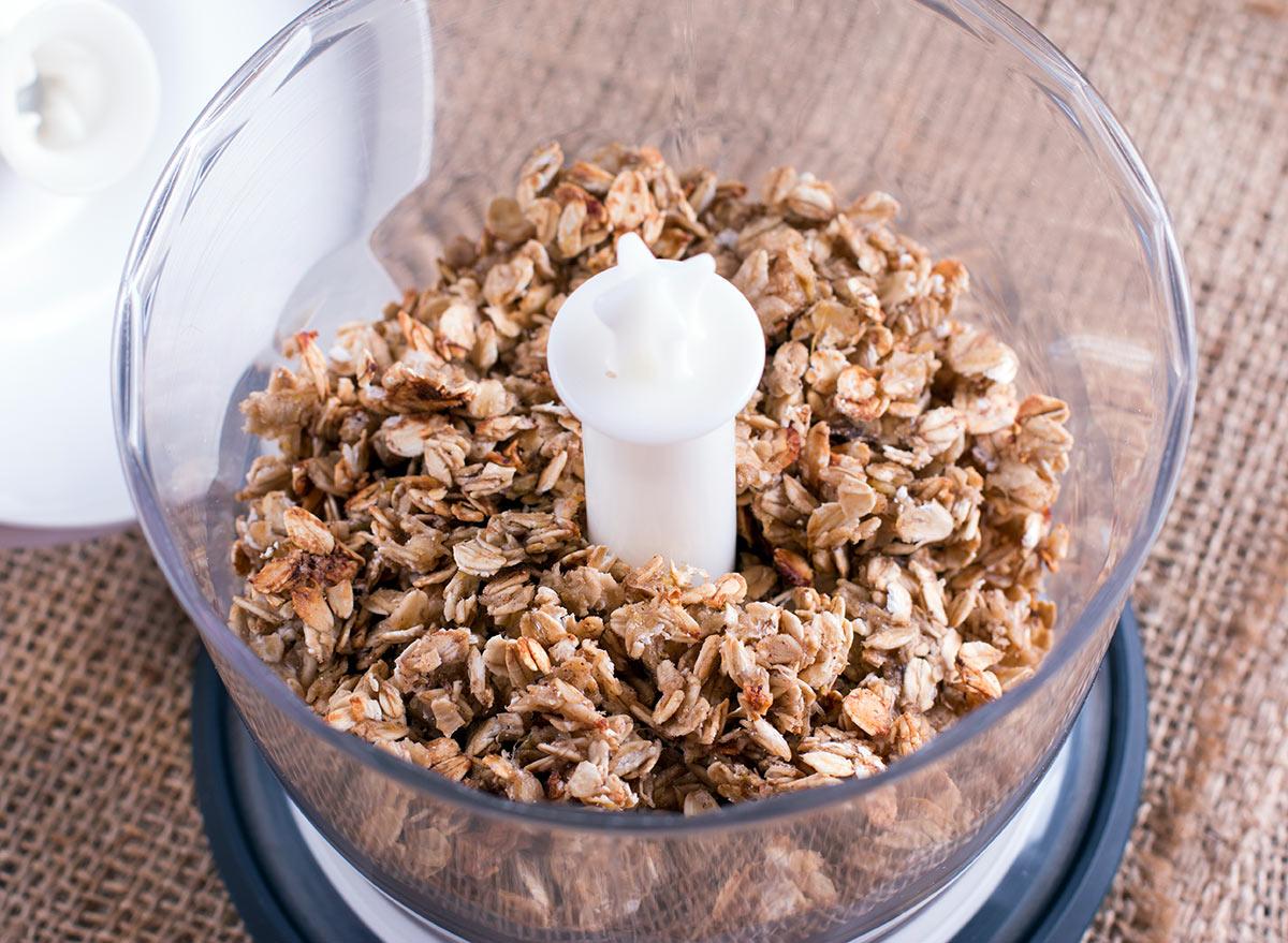 oats in a blender