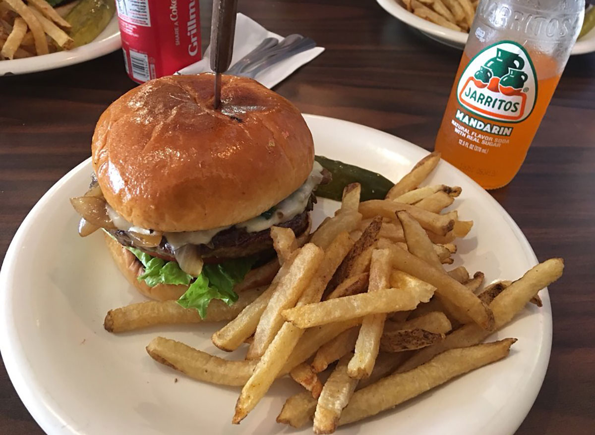 philly burger at patinos grill in chicago