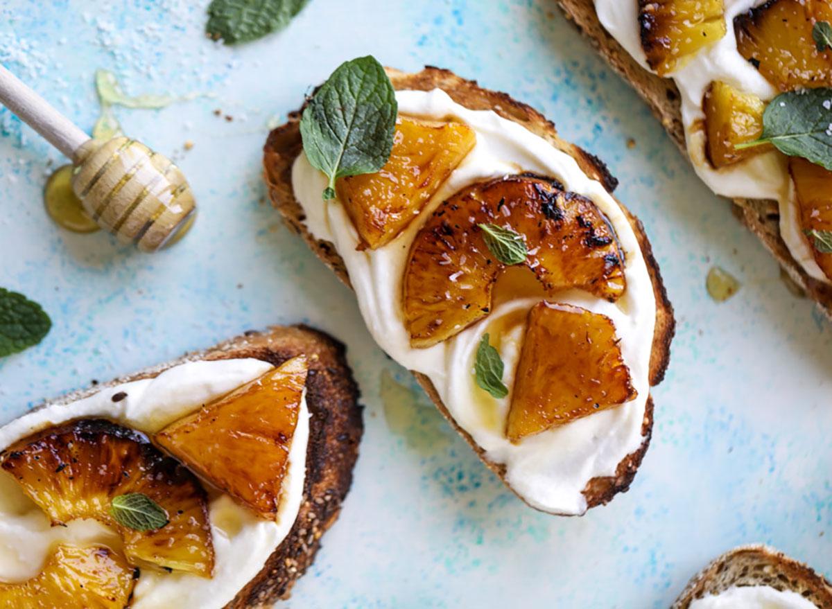 pineapple ricotta toast how sweet eats