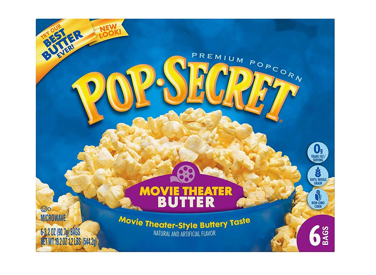 pop secret microwave popcorn box