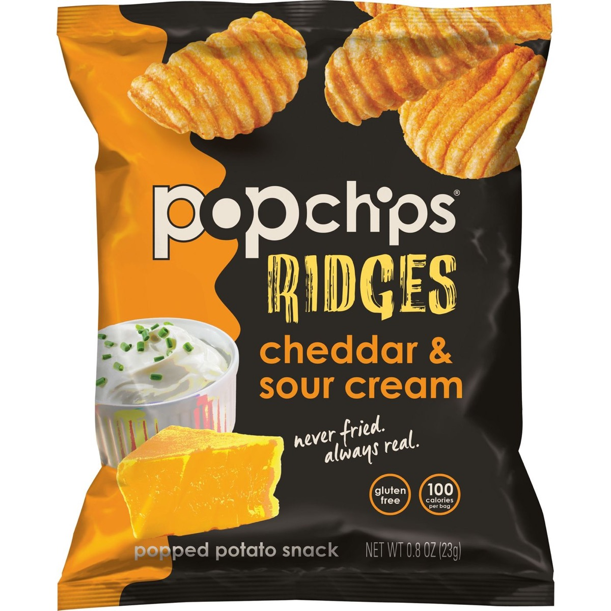 popchips ridges cheddar and sour cream, gluten-free snacks