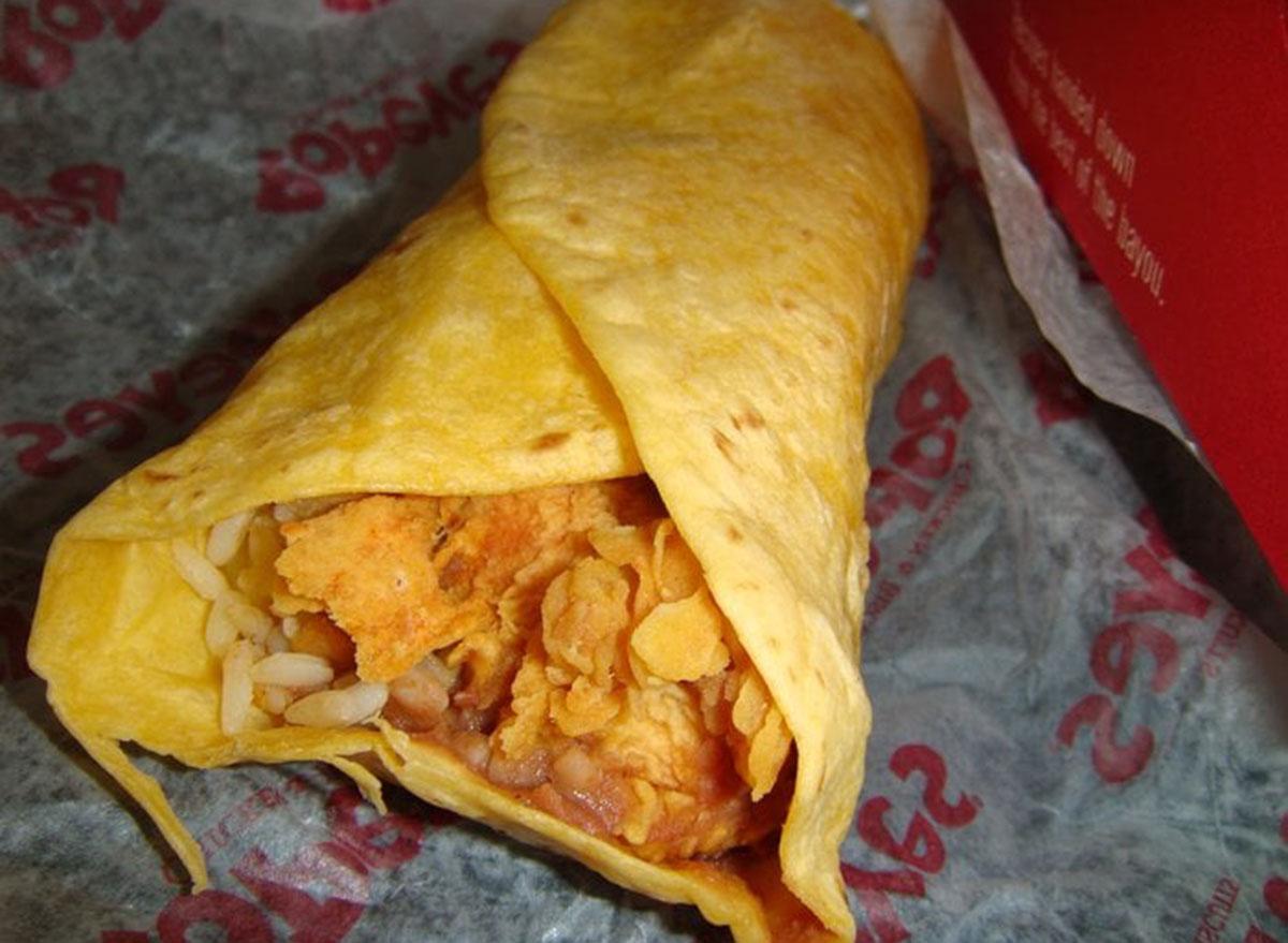 healthiest restaurant dish popeyes loaded chicken wrap