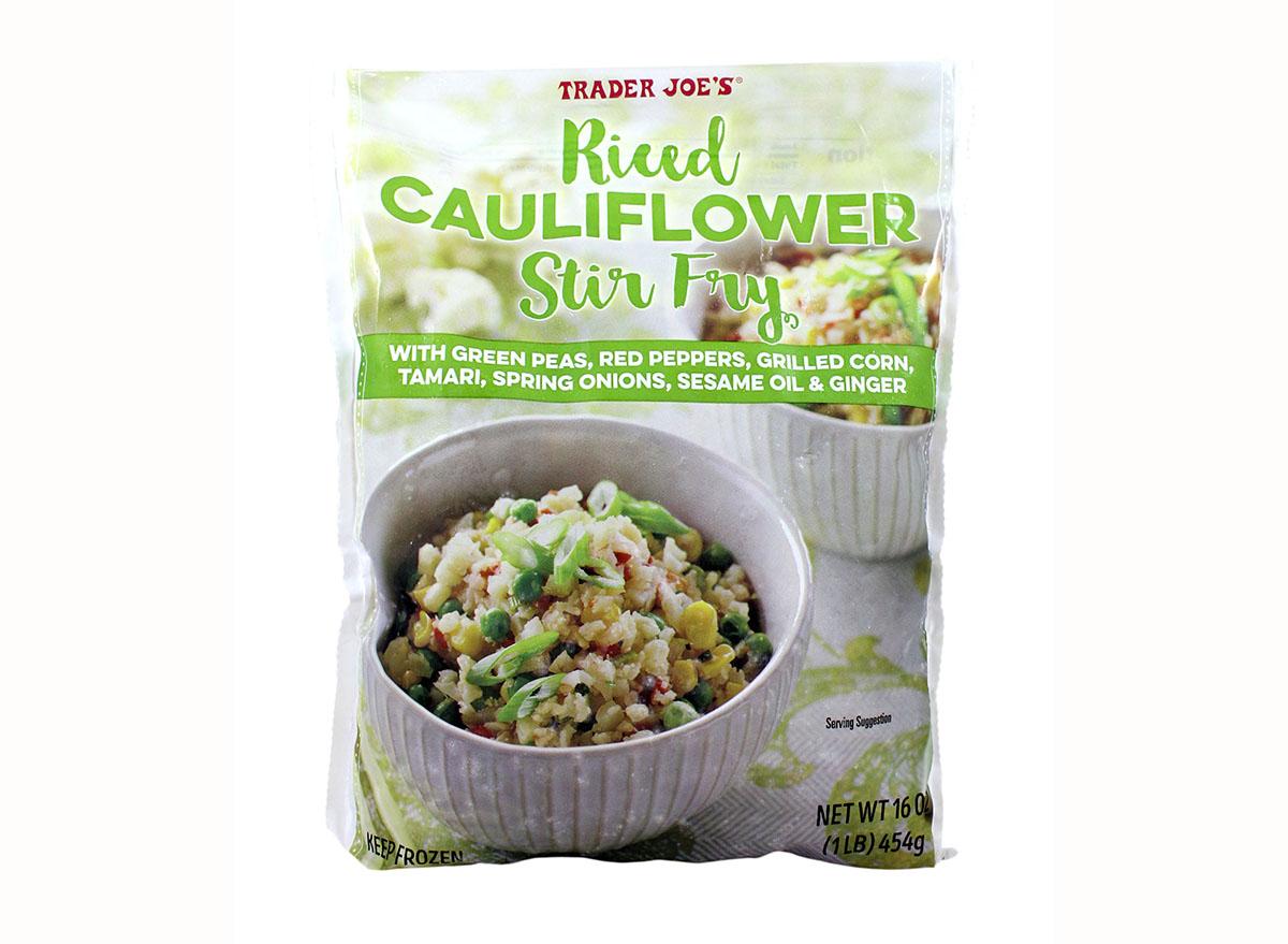 riced cauliflower stir fry from trader joe's