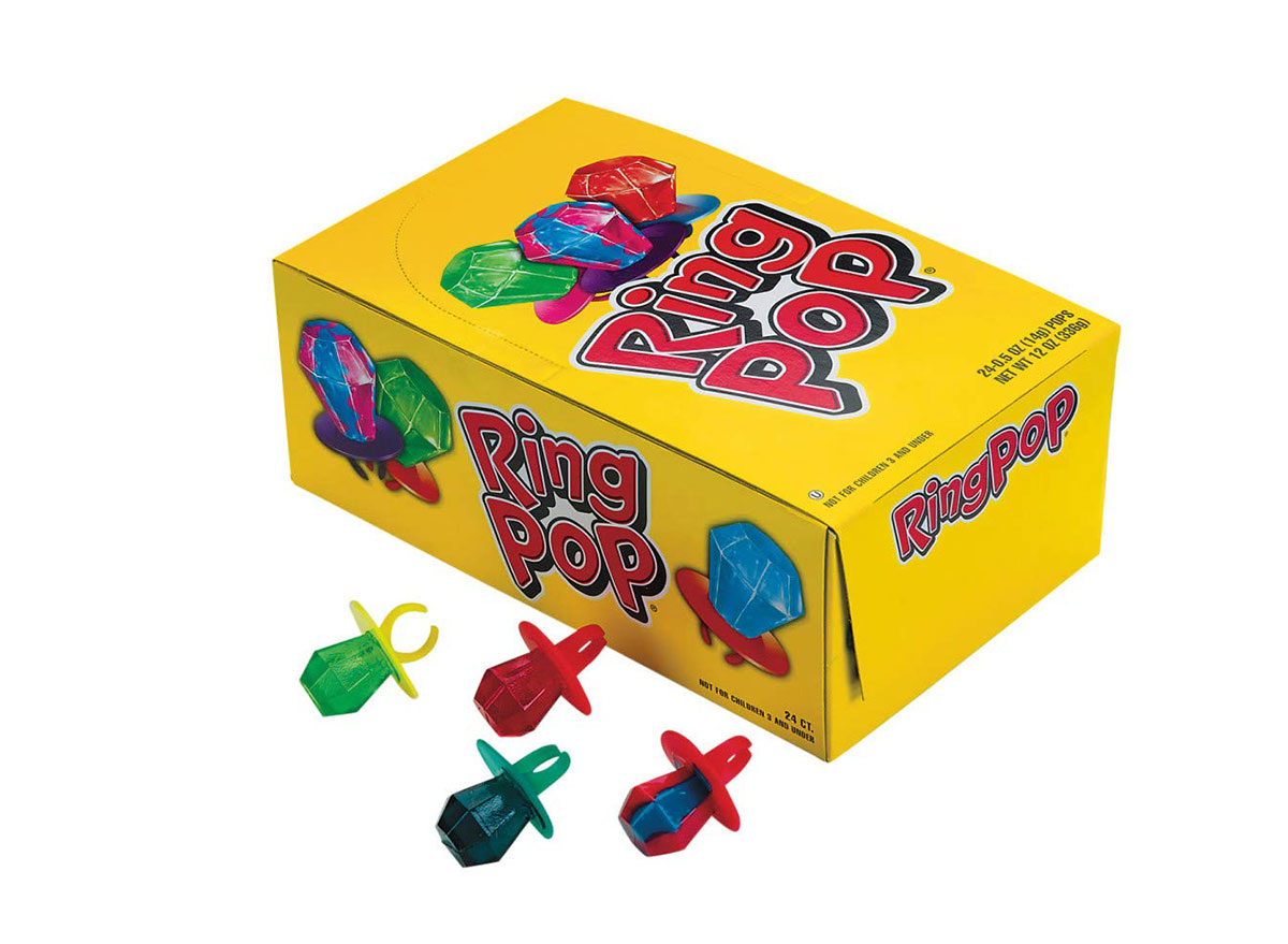box of ring pops candy