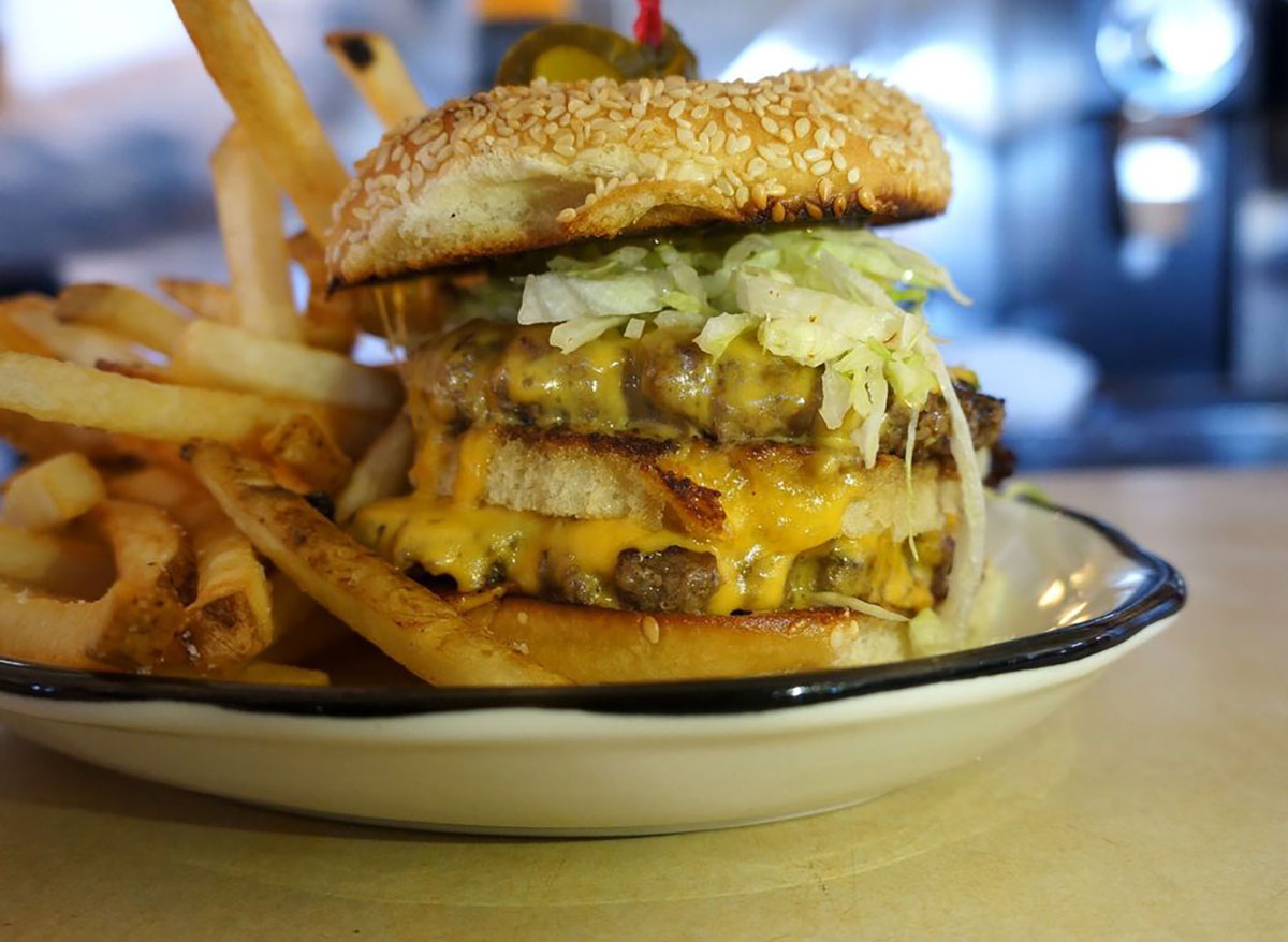 royale burger at palace diner in maine