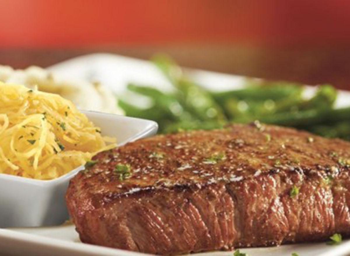 healthiest restaurant dish rubty tuesday sirloin