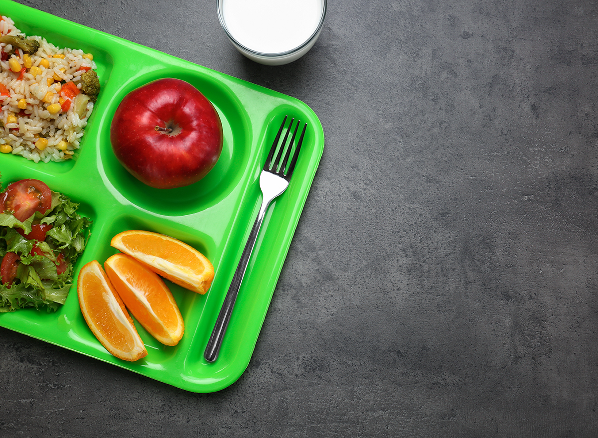 serving tray with food