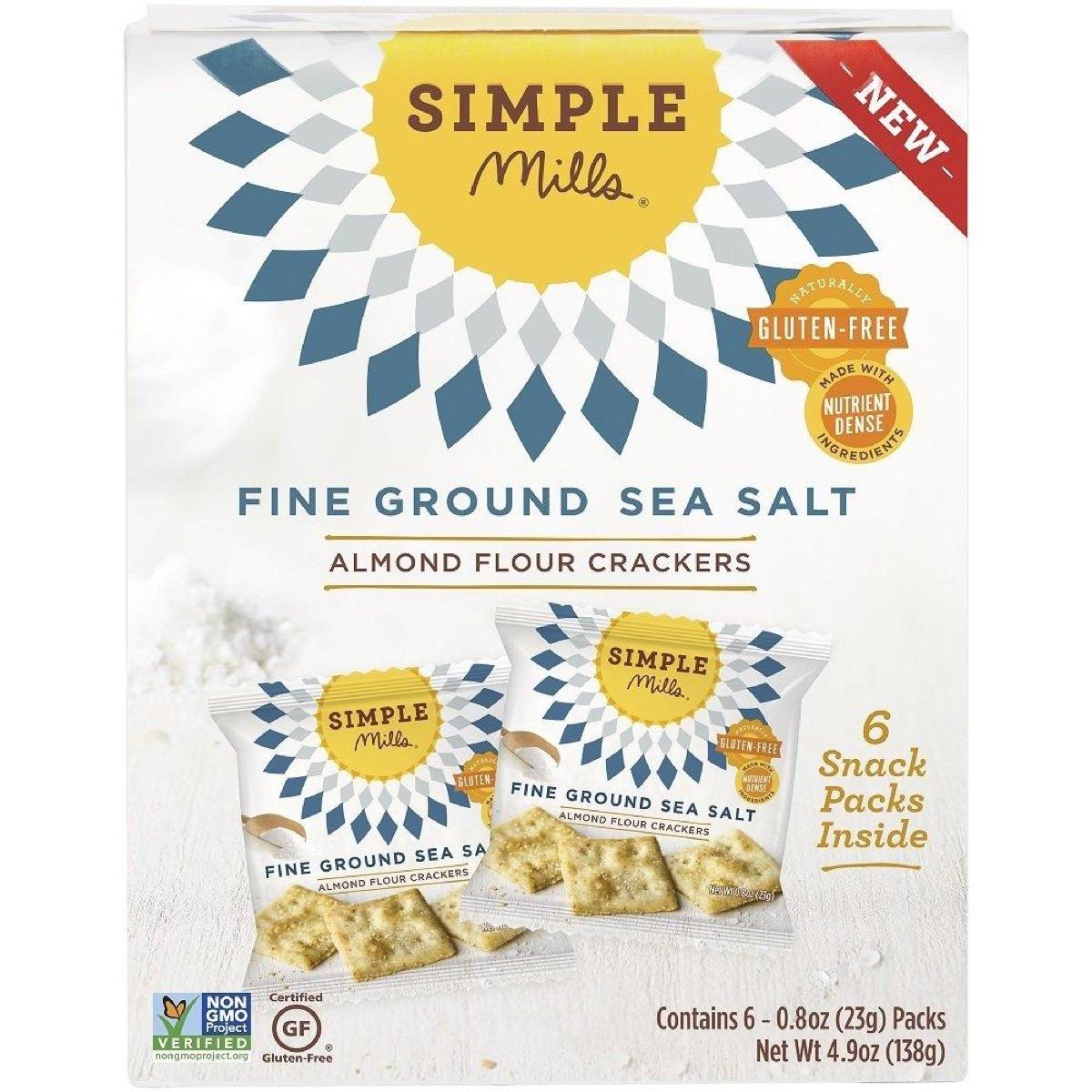 Simple Mills almond flour sea salt crackers, gluten-free snacks