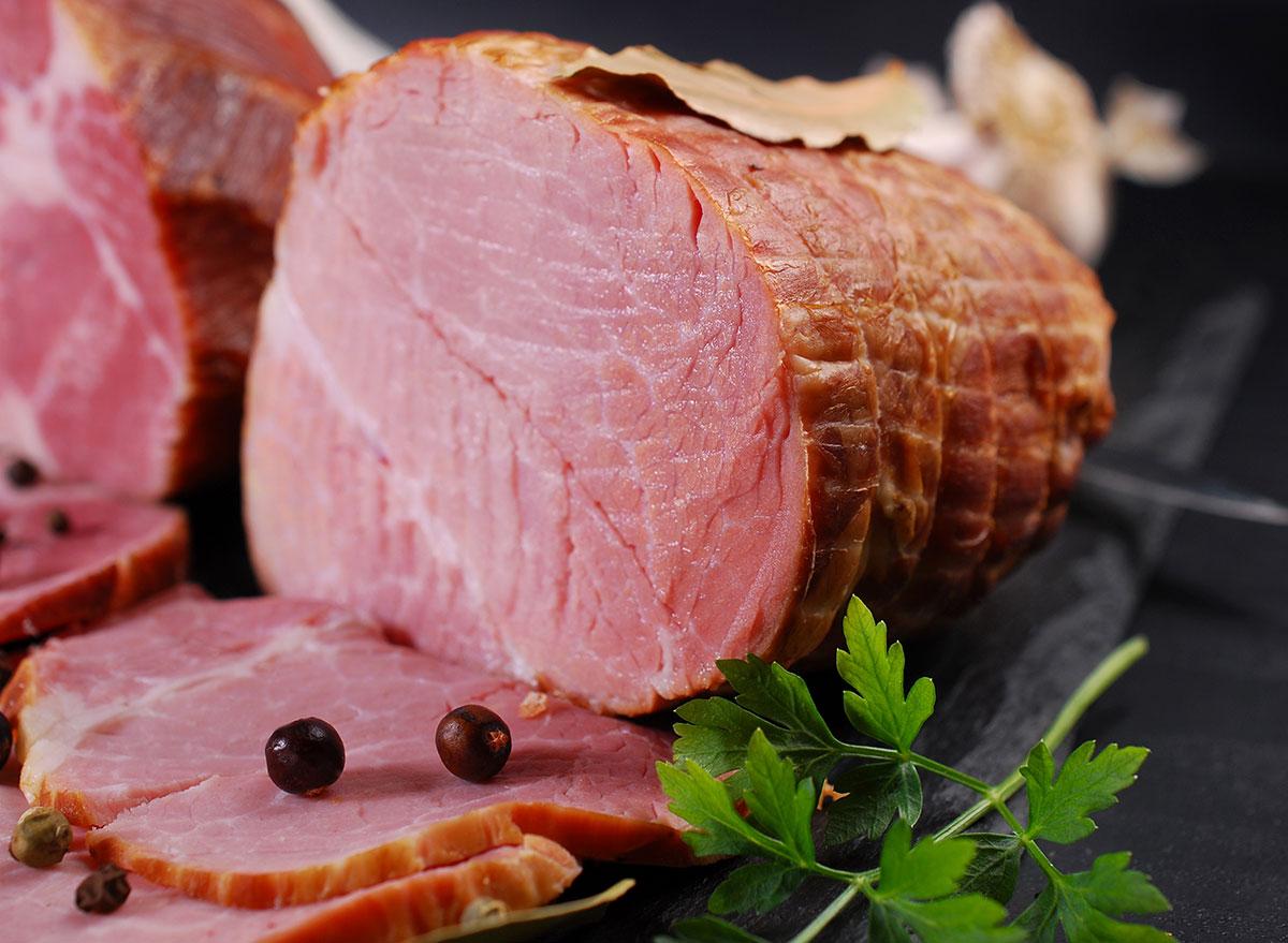 sliced country ham