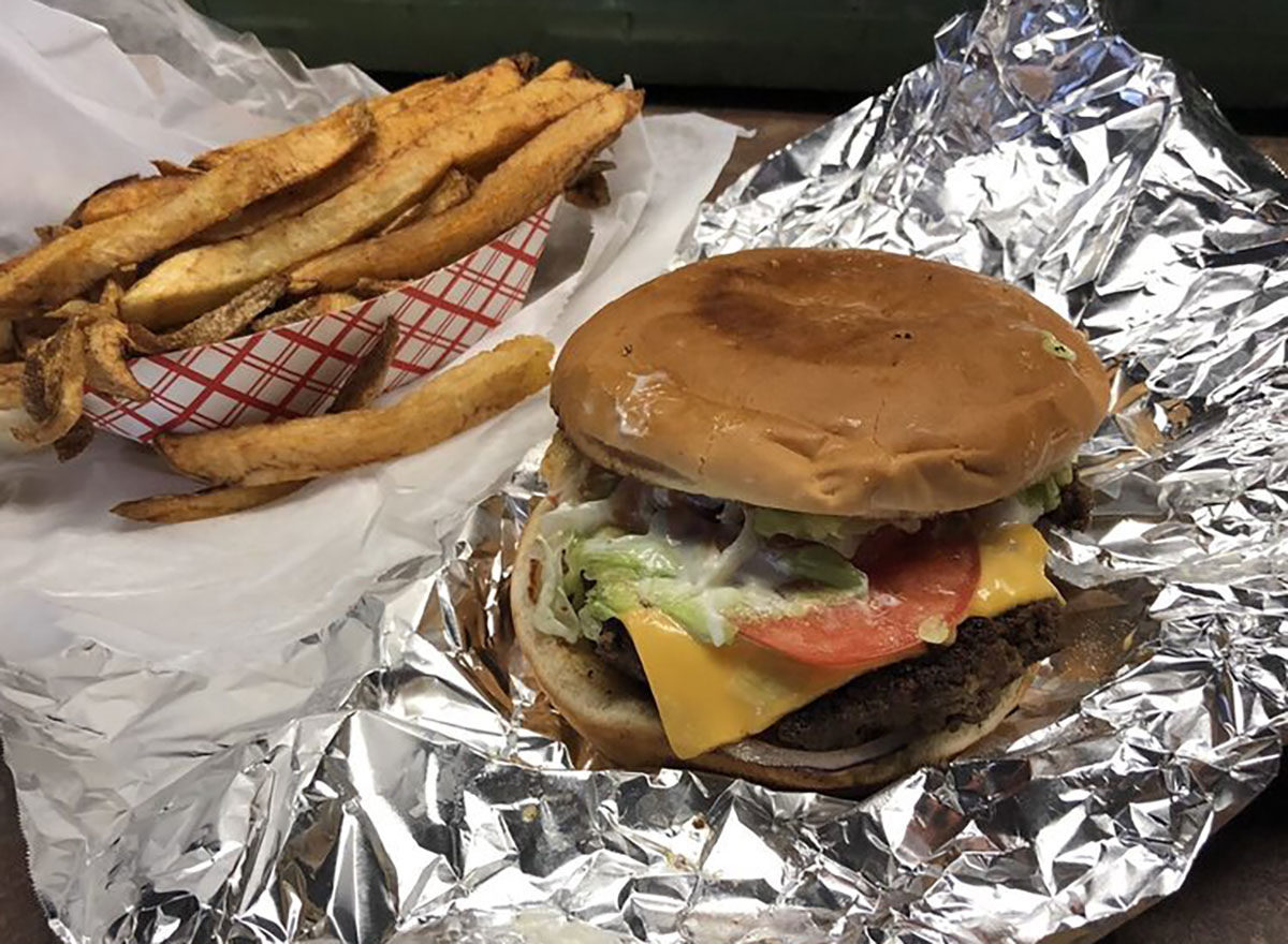 super cheeseburger at stamps superburger