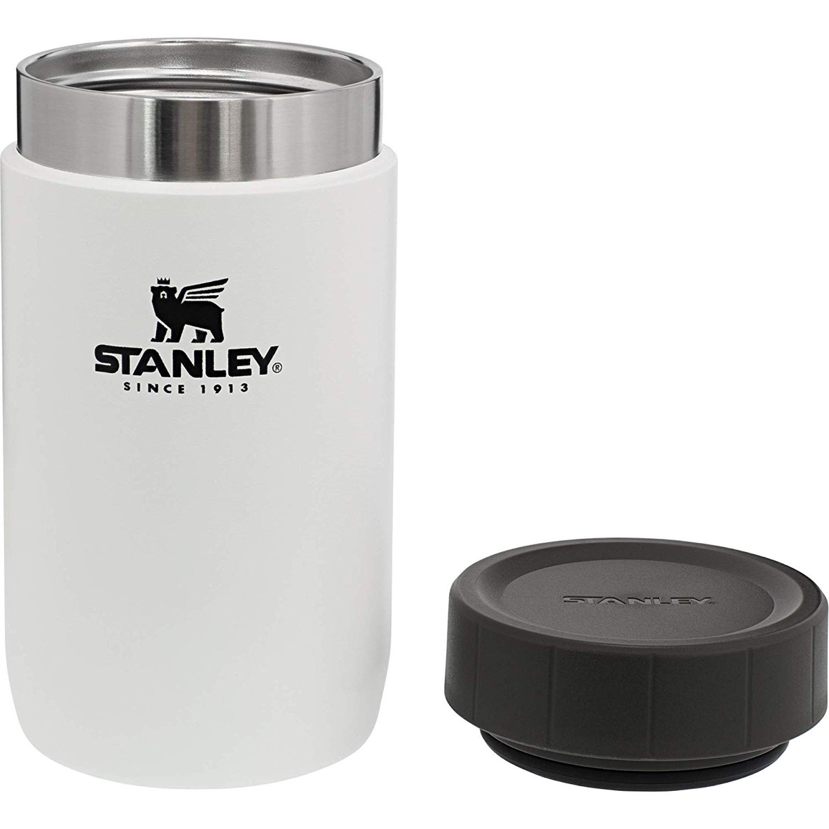 white thermos with black lid, cheap meal prep containers