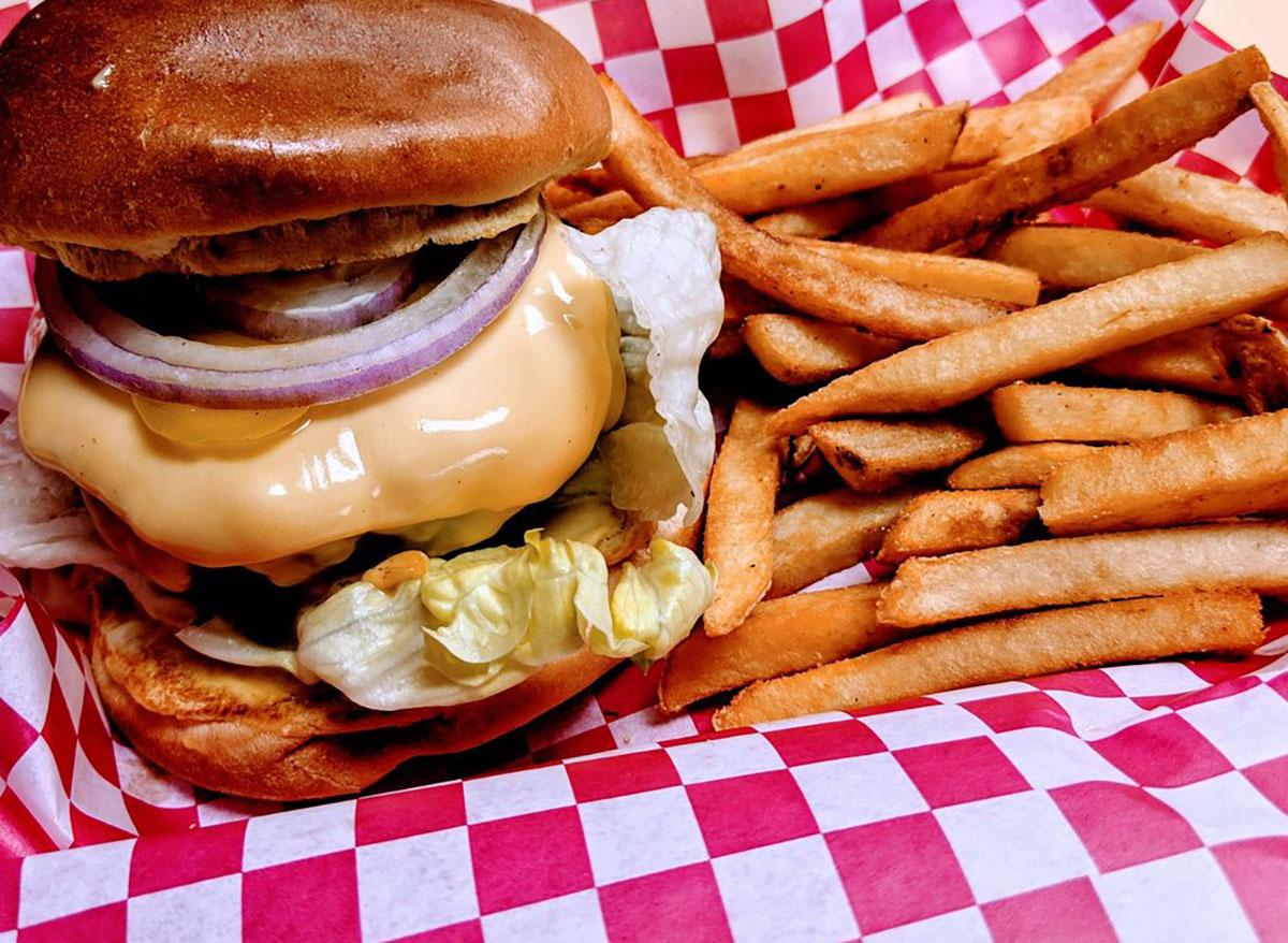 tasty and stuffed burger