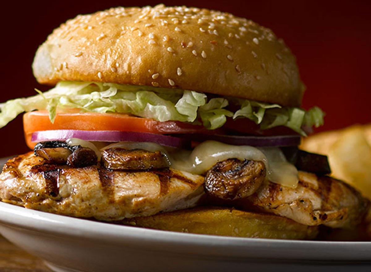 texas roadhouse mushroom jack chicken sandwich