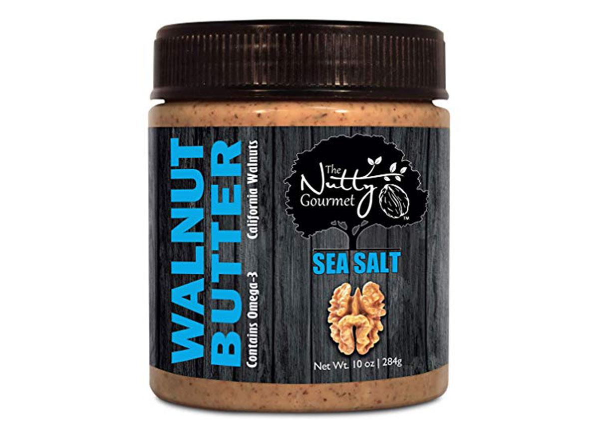 the nutty gourmet walnut butter jar