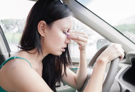 tired woman driver
