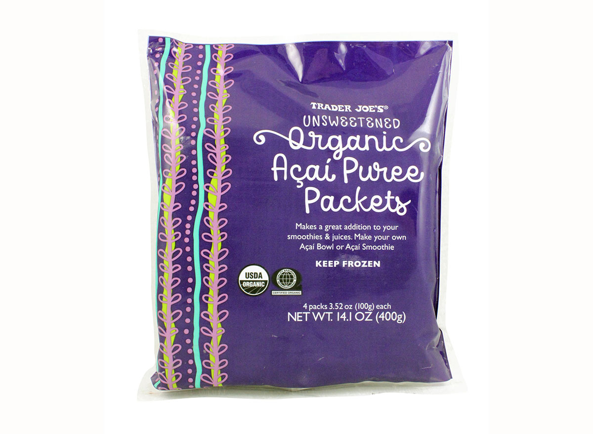 unsweetened organic acai puree packets from trader joe's