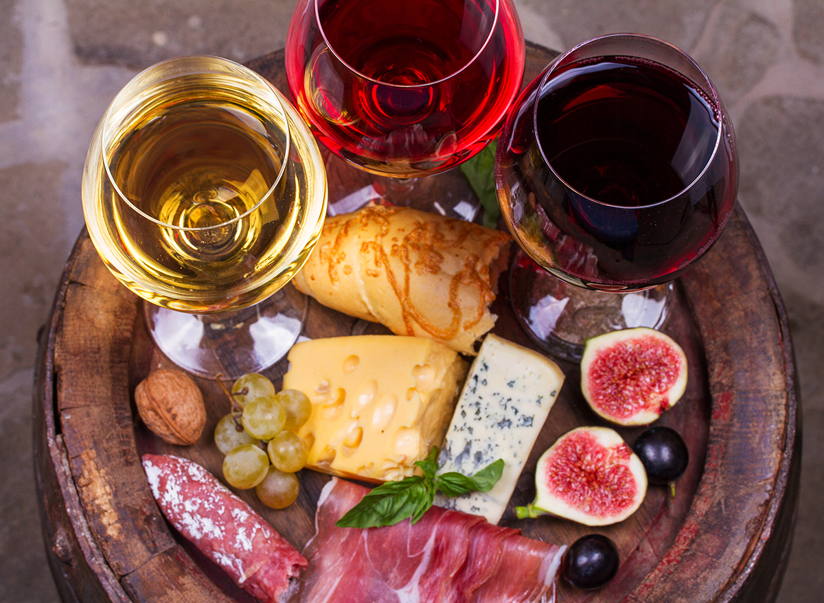 wine and cheese board