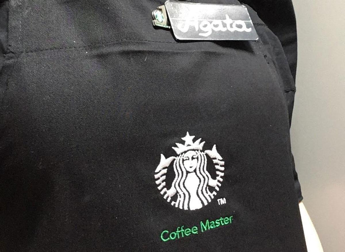 Starbucks black coffee master apron
