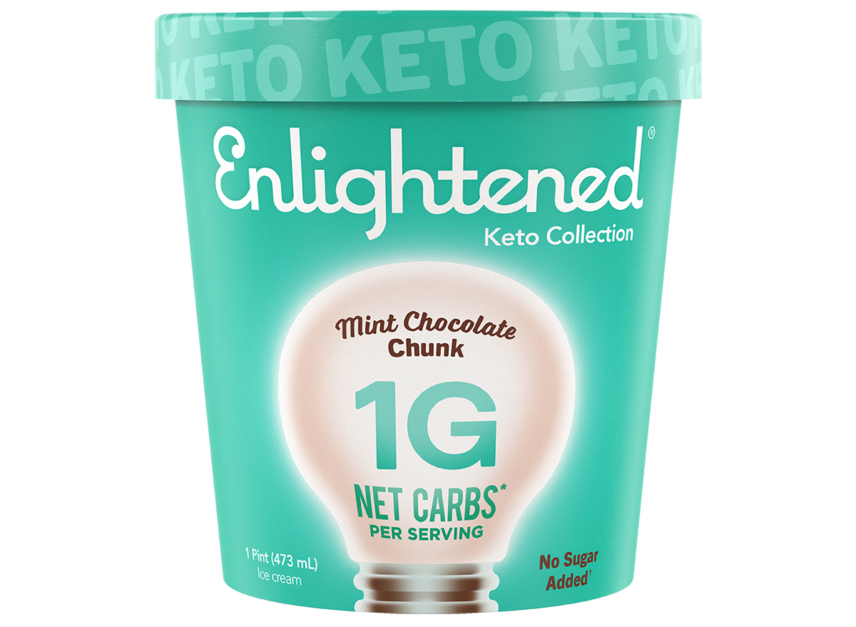 enlightened keto collection mint chocolate chunk
